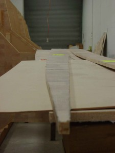 pic 1 curved edge to outside of hull straigher edge to the centreline of hull