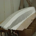 laying first glass inboard