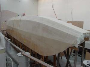 sb stern hull sanded
