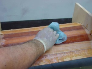 forebeam wiping glue