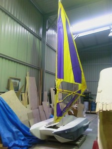 dingy with mast sail