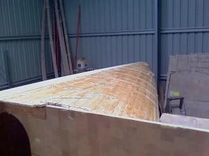 port bow planking glued