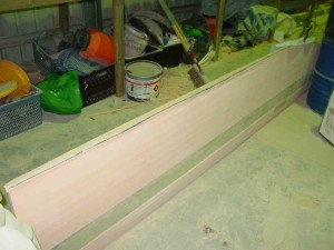 fibreglass batten glued in 2