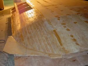 roof sb side planks glued
