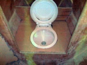 ensuite toilet cardboard template
