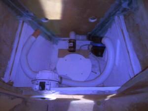 ensuite toilet plumbing in