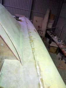 sb side deck top join glued