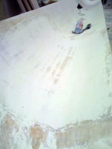 side deck inside sanded