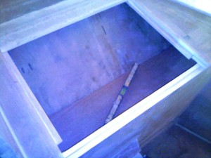 aft bedroom inboard hull cabinet base in