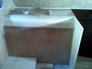 bathroom wall divider