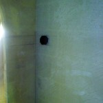 shower wall black tank port