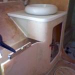bathroom vanity front glassed in