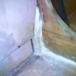 pipe through floor protruding