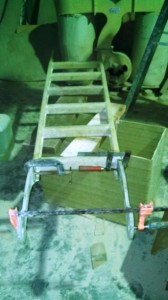 bow ladder attach plates glued on 1