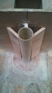 rudder tube bracing dry fit