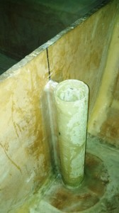 rudder tube glassed in 2