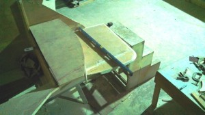 rudder tiller under second bottom step 2