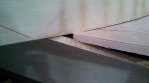 starboard hull to step gap