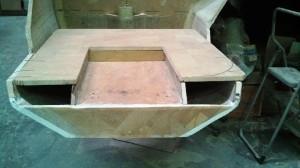 swim ladder recess cut out of bottom step