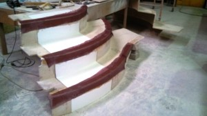 port top steps taped