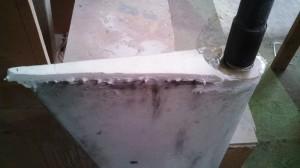 rudder top foam fill