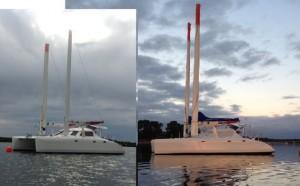 bi polar shortened masts