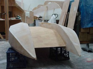 dingy chines sanded