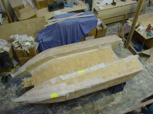 dingy hull coved glassed